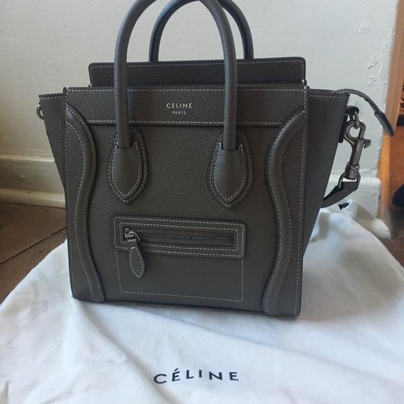 Celine Handbags - Celine Nano AUTHENTIC souris 7a46a4ca670a3